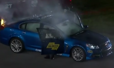 Chevy ss pace car fire