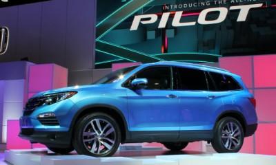 2016 Honda Pilot Side New Blue SUV