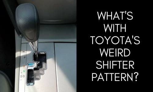 """What's the Toyota's weird shifter pattern?"" image of 2011 Toyota Camry shifter"